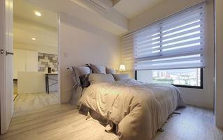 白色简约现代卧室百叶帘装配图