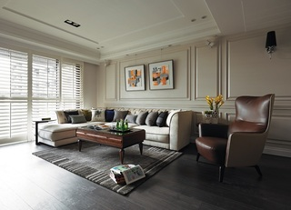 美式风格客厅沙发背景墙设计
