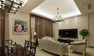 简欧现代客厅电视墙设计