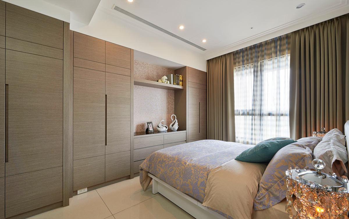 舒适简约现代风卧室整体衣柜设计