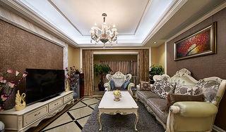 60平时尚精致欧式二居装潢设计