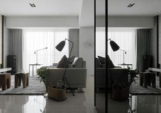 灰色系现代二居室装潢效果图