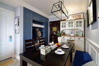 58平蓝色美式小户型二居装潢设计欣赏