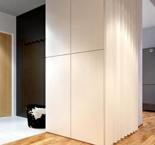 时尚现代都市风公寓家居米白色柜子设计