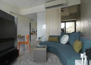 45平简约一居室创意设计装修案例