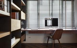实木现代简约书房装饰图
