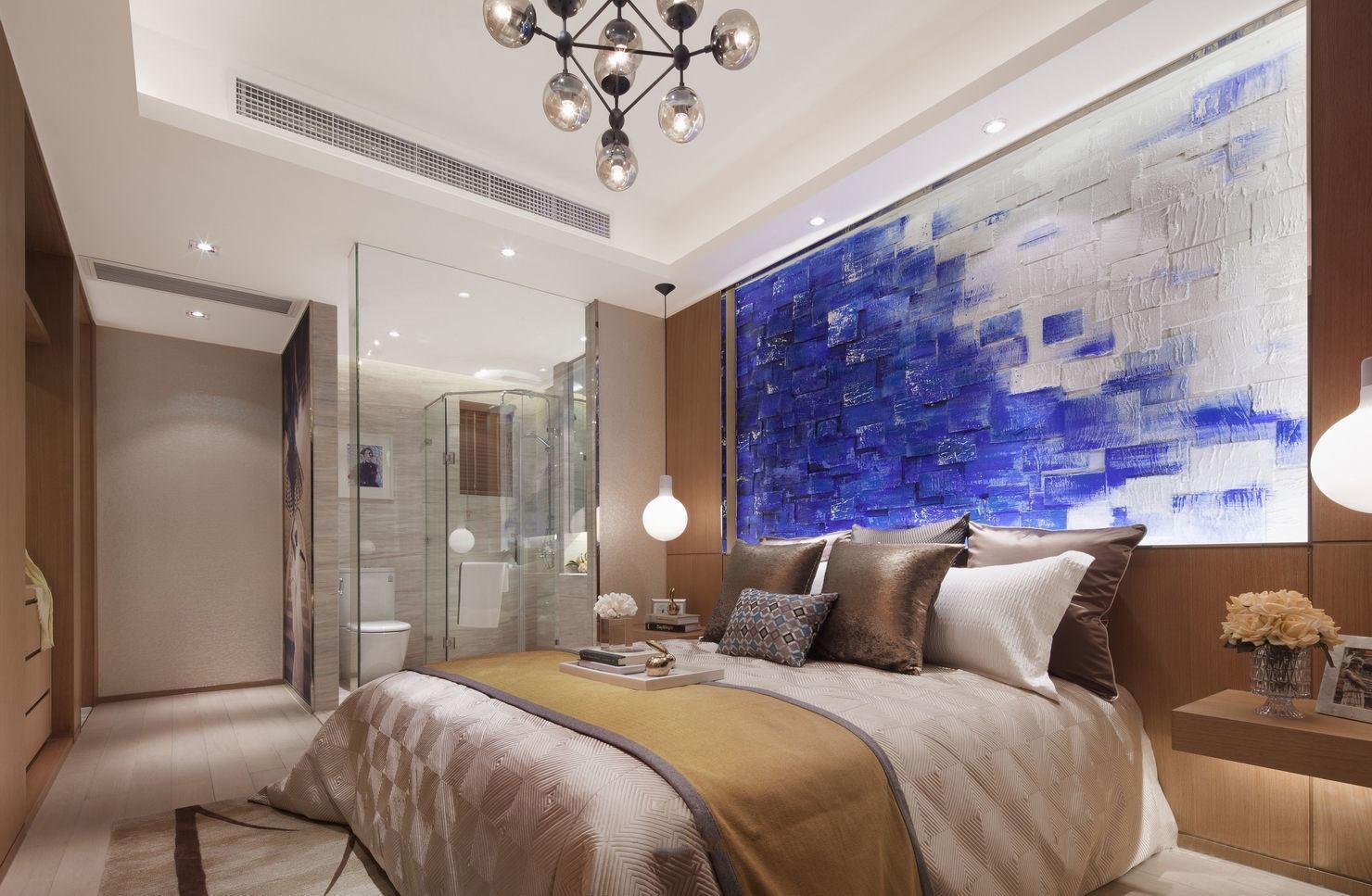 奢华精美北欧装修卧室带淋浴房设计大全