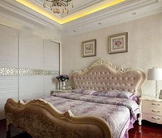 甜美浪漫简欧风卧室效果图欣赏