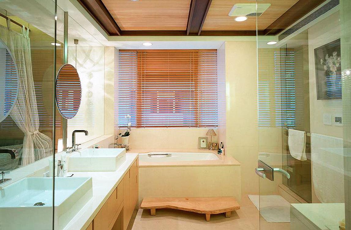 温馨浪漫现代卫生间装潢设计效果图