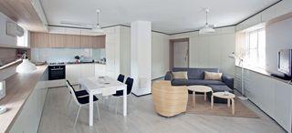 38平清新簡約宜家風不規則單身公寓設計