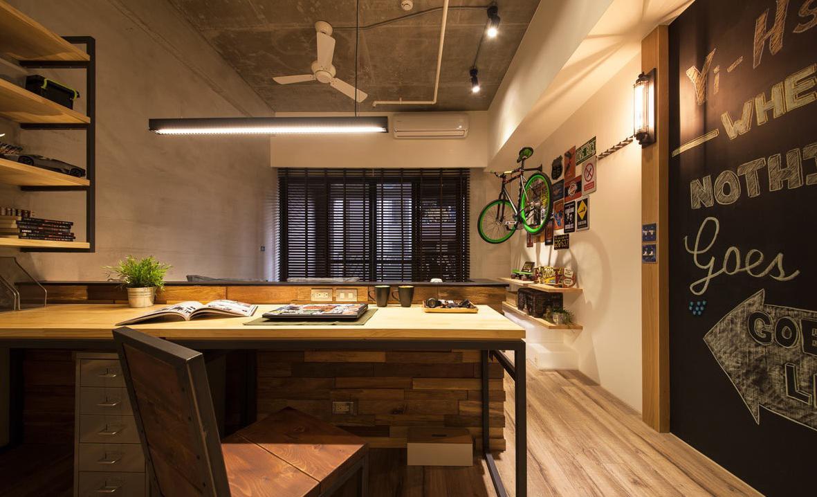 现代风格公寓室内设计 精美书房设计