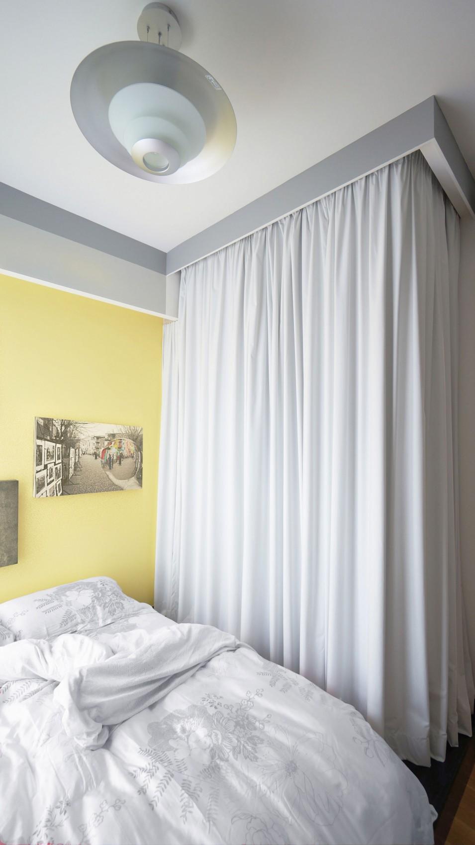 纯白优雅简约家居卧室窗帘装饰效果图