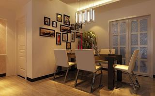 浪漫现代风设计餐厅相片墙装饰
