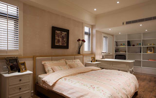 优雅美式风格卧室背景墙设计