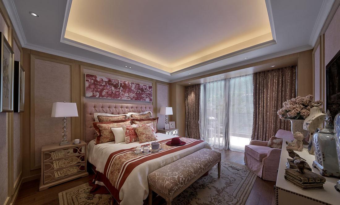 新古典风格卧室软装装饰效果图
