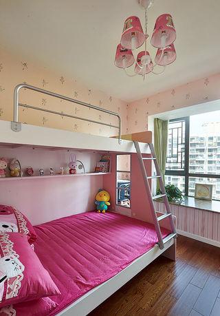 甜美现代宜家风儿童房上下床装饰