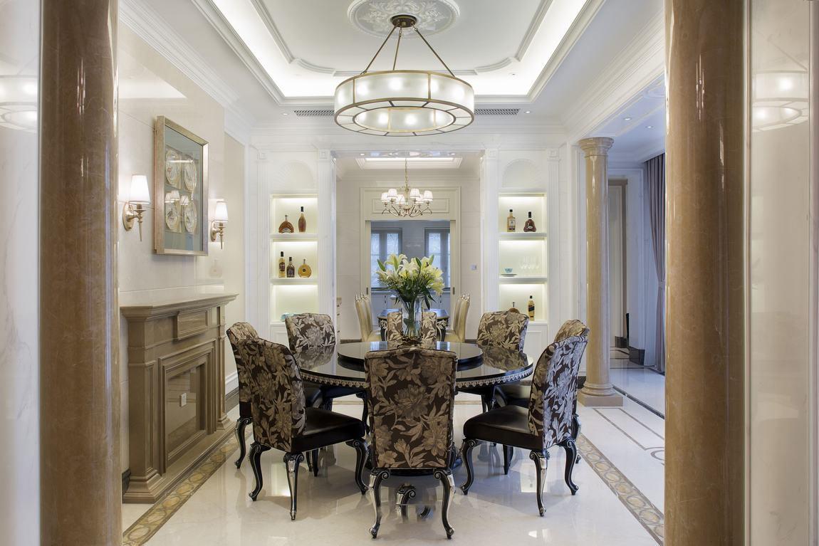 豪华欧式餐厅桌椅布置