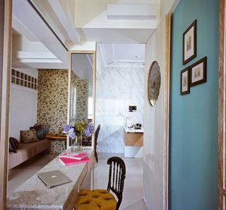 美式风格三室一厅吧台设计效果图