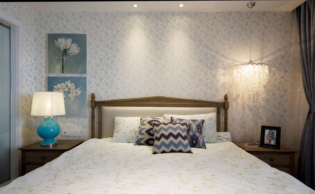 浪漫简欧卧室灯具装饰图