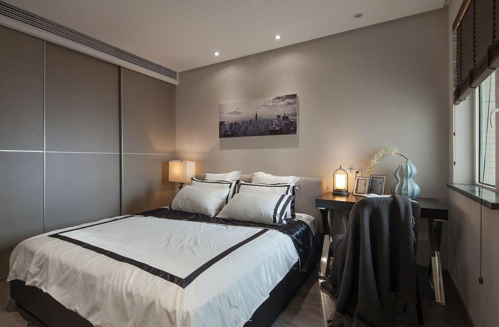 时尚现代卧室移门衣柜装饰图