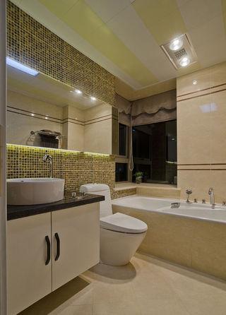 现代家居浴室马赛克背景墙效果图