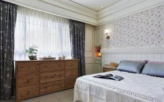 现代乡村风格卧室收纳柜放置效果图