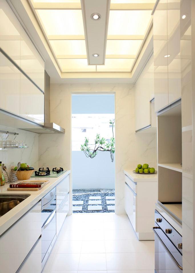 唯美浪漫纯白简约法式厨房室内设计