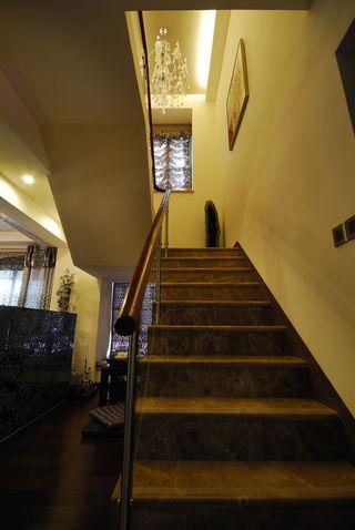 新古典复式现代大理石楼梯设计装修图
