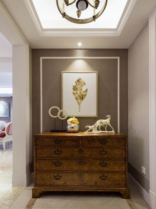古朴美式玄关柜装饰图