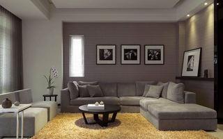 低调简约现代风客厅背景墙设计效果图