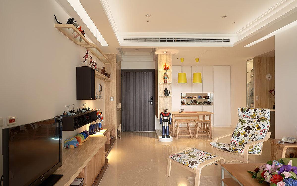 温馨简约宜家设计公寓客餐厅家居装饰