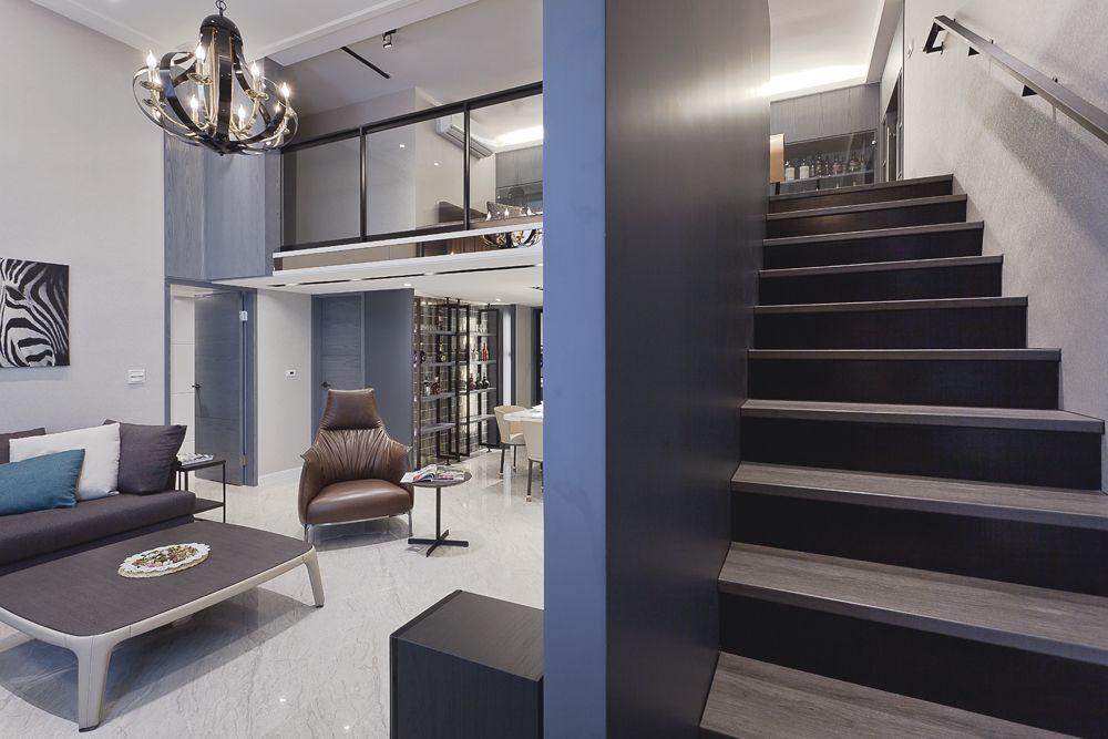 时尚现代都市风情复式楼楼梯装饰设计