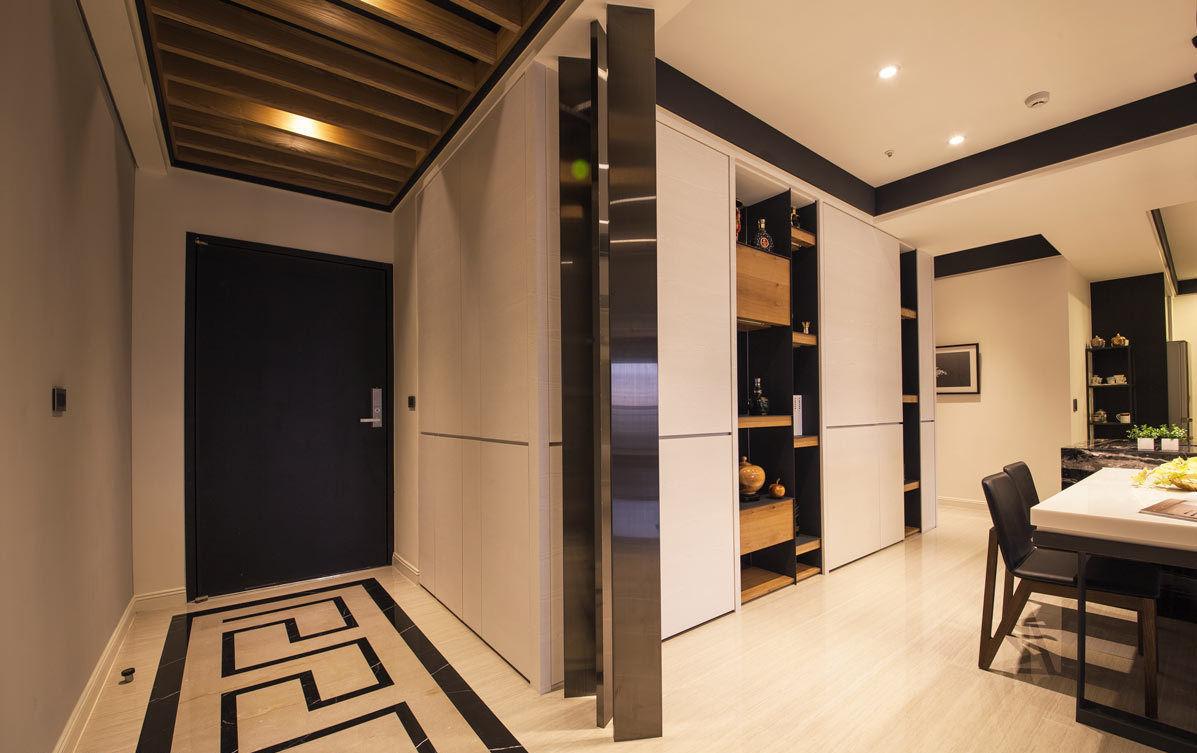 现代风格公寓室内设计 玄关装修效果图