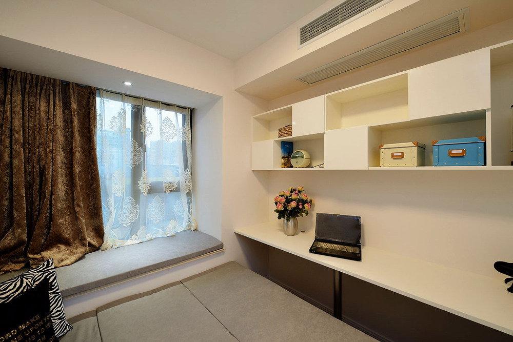 时尚简约现代风小卧室书房一体装饰