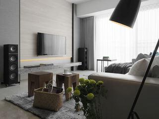 灰色系现代 客厅电视背景墙设计