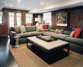 复古北欧风客厅绿色沙发设计