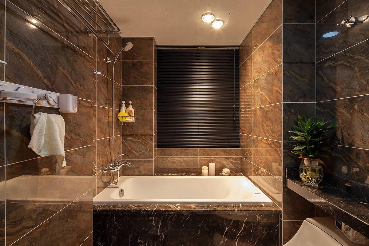 咖色系现代简约风浴室装潢设计