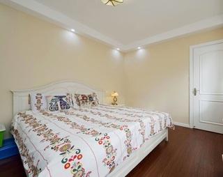温馨米黄色宜家田园风格卧室设计