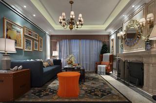 精致低奢复古美式客厅家居装饰大全