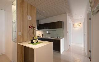 宜家北欧风厨房原木小吧台设计