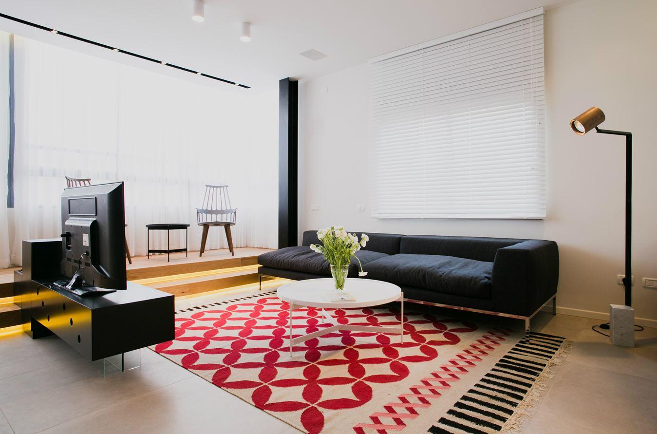 时尚现代风格客厅地毯效果图