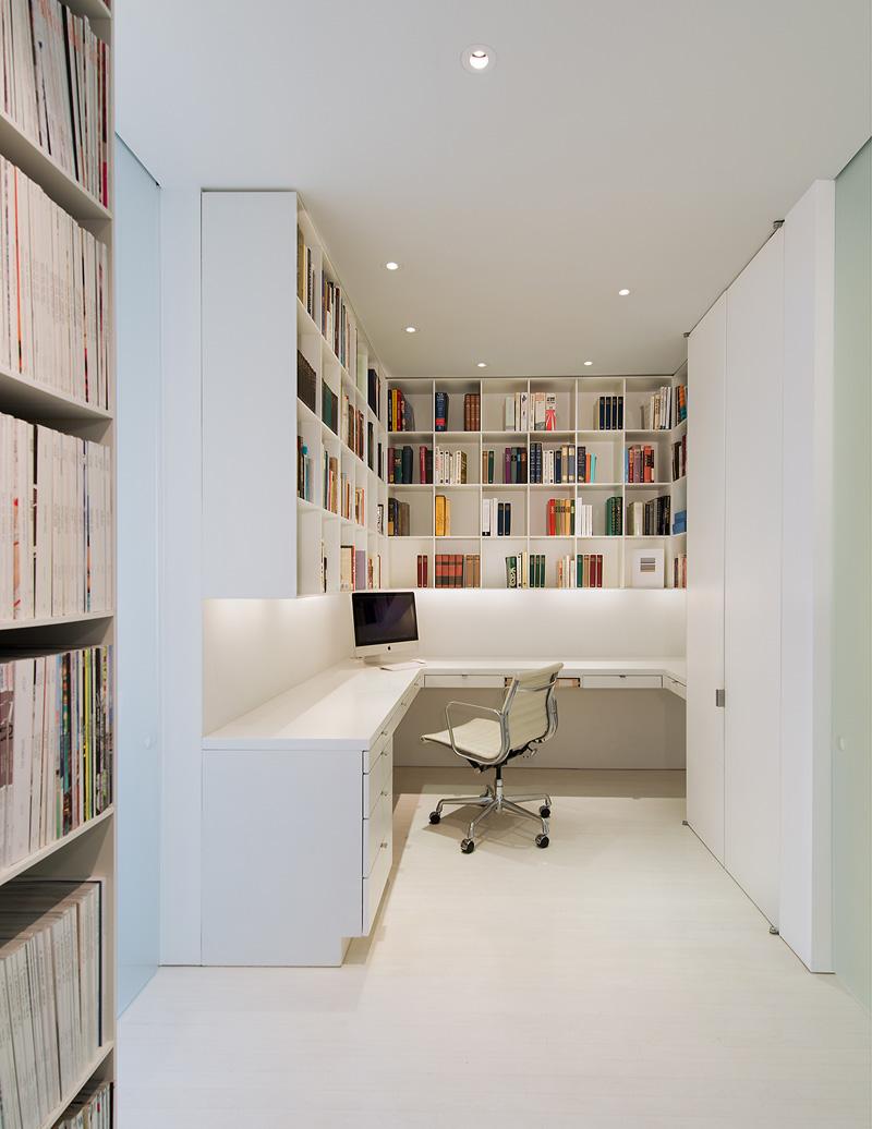 纯净现代风书房整体家居设计效果图