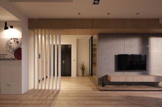 沉稳简约宜家风公寓玄关客厅隔断设计