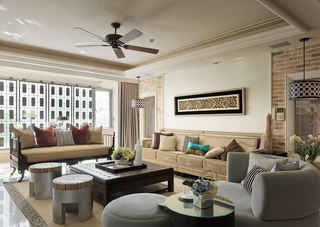 公寓客厅新古典风格装修图