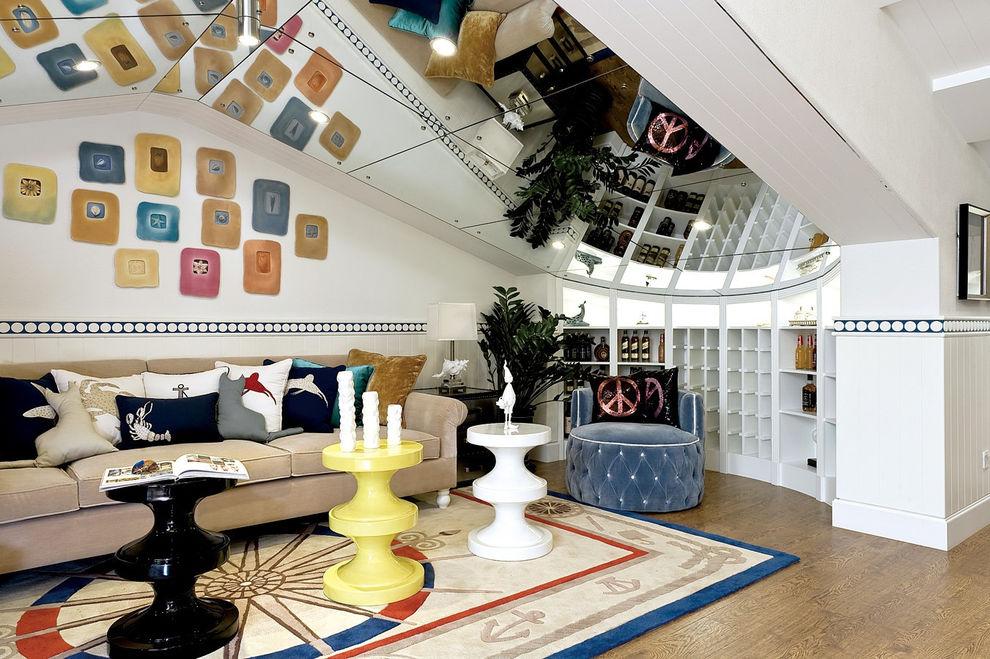 色彩混搭地中海风格阁楼设计