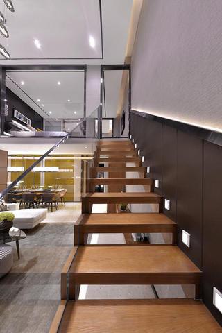 简约创意设计复式楼梯装修图