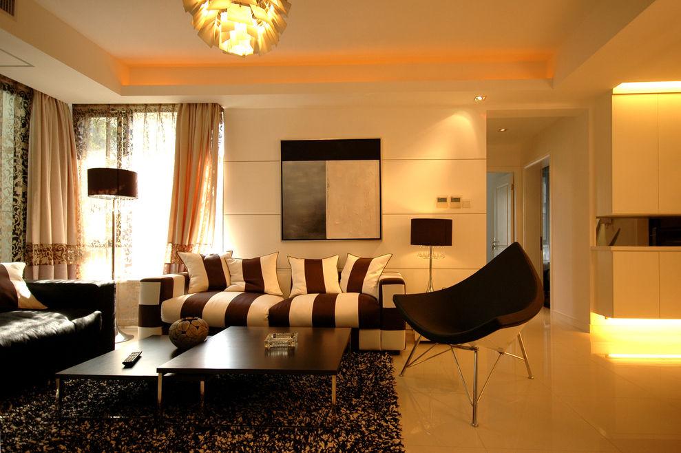 时尚摩登现代风客厅背景墙装饰设计