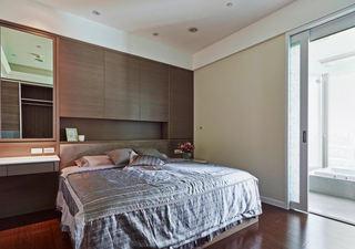 宜家现代风格咖色卧室背景墙设计