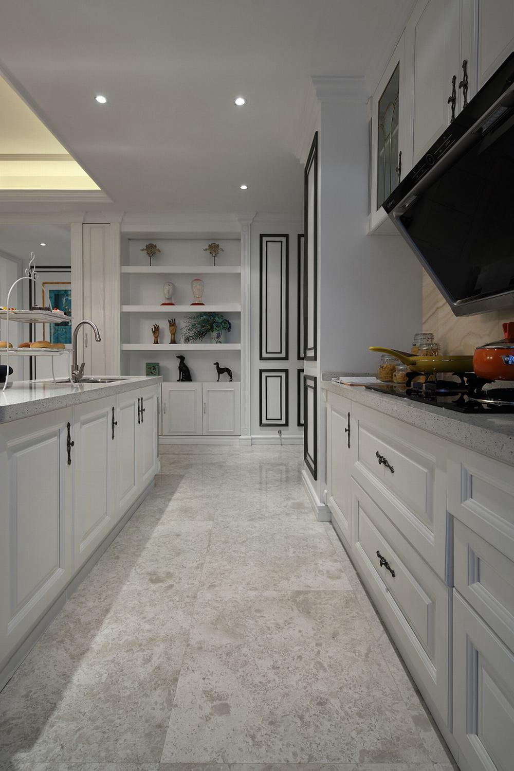 白色奢华优雅美式厨房橱柜大全
