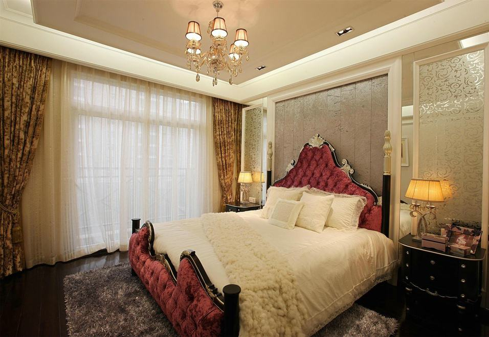 时尚奢华欧式卧室背景墙装饰